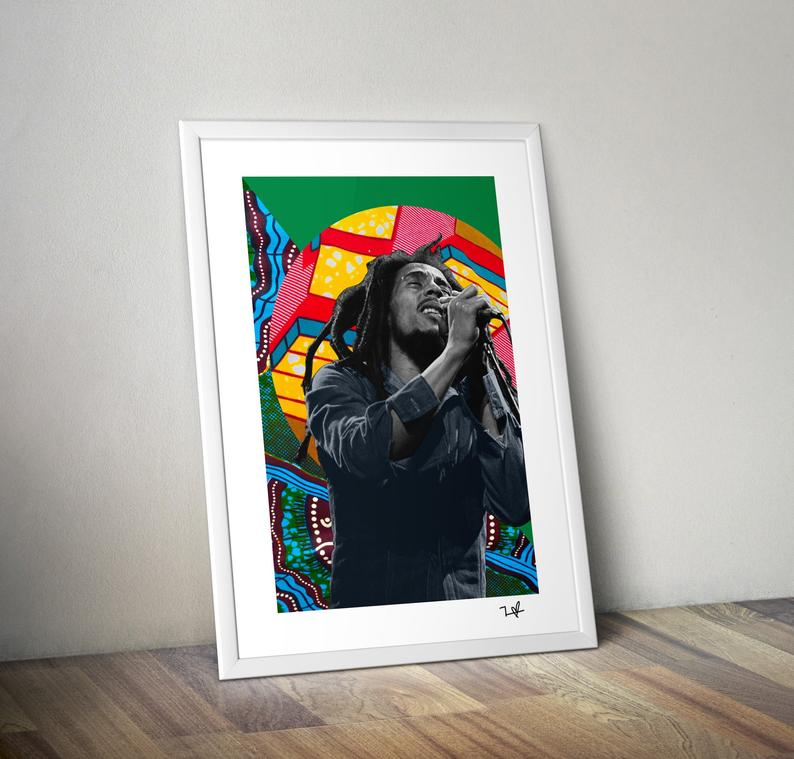 Bob Marley Print - Artwork for a cool home style