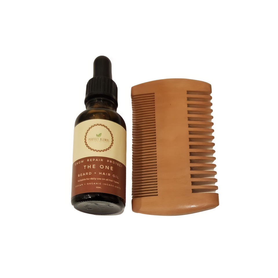 The One Beard Oil and Comb Set