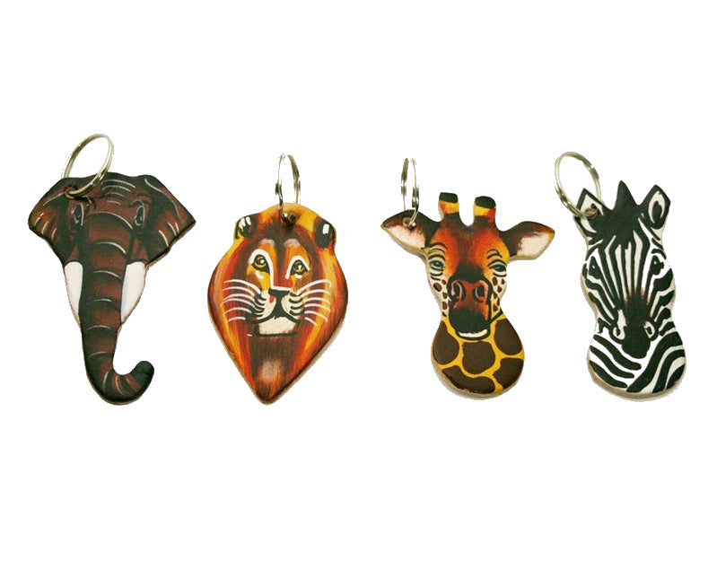 animal leather keyrings