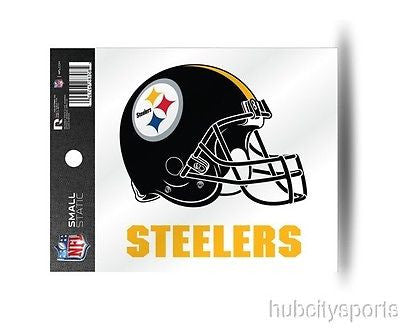 Pittsburgh Steelers Helmet Static Cling Sticker NEW!! Window or Car!