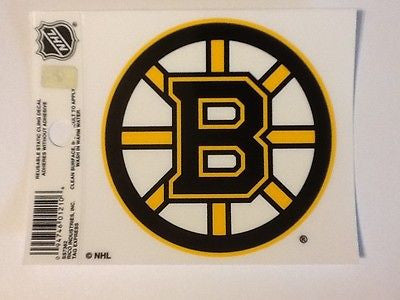 Boston Bruins Logo Static Cling Decal Sticker NEW!! Window or Car!
