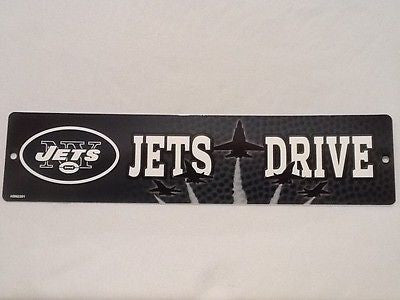 "New York Jets Street Sign NEW! 4""X16"" ""Jets Drive"" Man Cave NFL"
