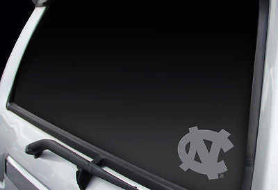 North Carolina Tar Heels Logo Window Graphic Decal!! Chrome FREE SHIPPING!