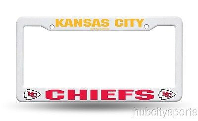 Kansas City Chiefs White Plastic License Plate Frame NEW NFL