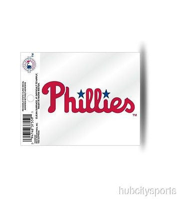Philadelphia Phillies Wordmark Window Cling Decal