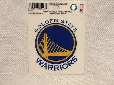 Golden State Warriors 3.75'' x 3.5'' Small Window Cling