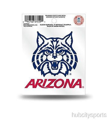 Arizona Wildcats Logo Static Cling Sticker NEW!! Window or Car! NCAA