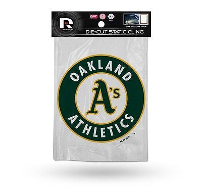 Oakland Athletics Die Cut Static Cling Decal Sticker 5 X 5 NEW! Car Window