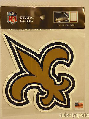 New Orleans Saints Die Cut Static Cling Decal Sticker 5 X 5 NEW! Car Window