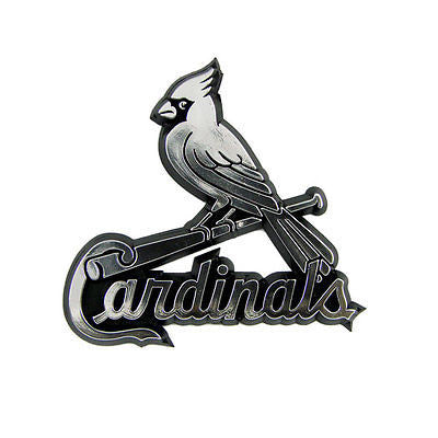 St. Louis Cardinals Logo 3D Chrome Auto Decal Sticker NEW! Truck or Car
