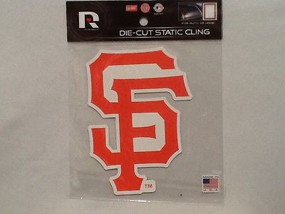 San Francisco Giants Die Cut Static Cling Decal Sticker 5 X 5 NEW! Car Window