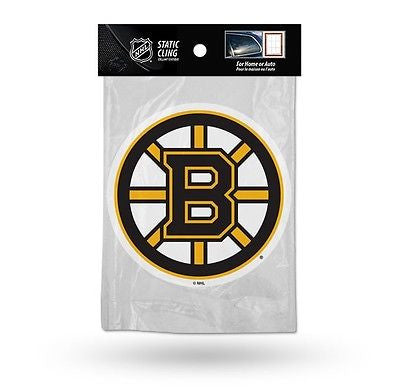 Boston Bruins Die Cut Static Cling Decal Sticker 5 X 5 NEW!! Car Window NHL