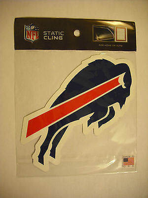Buffalo Bills Die Cut Static Cling Decal Sticker 4 X 6 NEW!! Car Window Reusable