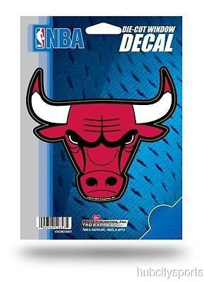 "Chicago Bulls 5"" x 5"" Die-Cut Decal Window, Car or Laptop!"