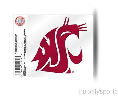 Washington State Cougars Logo Static Cling Sticker NEW!! Window or Car! NCAA