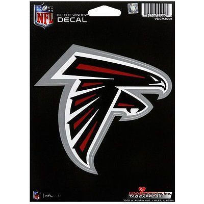 Atlanta Falcons Logo Die Cut Decal NEW! 5 X 5 Window or Car!