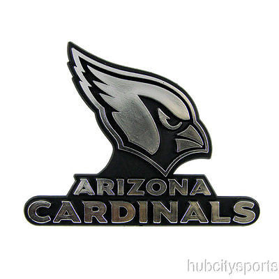 Arizona Cardinals Logo 3D Chrome Auto Decal Sticker NEW! Truck Car!