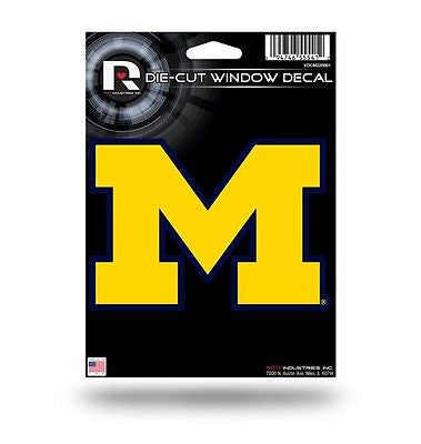 "Michigan Wolverines 4"" x 5"" Die-Cut Decal Window, Car or Laptop! NEW!"