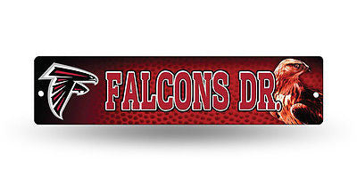 "Atlanta Falcons Street Sign NEW! 4""X16"" ""Falcons Dr."" Man Cave NFL"