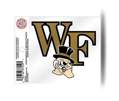 Wake Forest Demon Deacons Logo Static Cling Sticker NEW!! Window or Car! NCAA