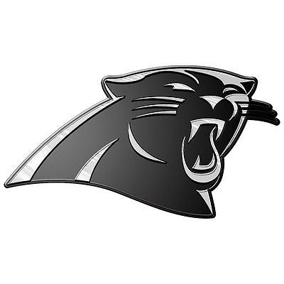 Carolina Panthers Logo 3D Chrome Auto Decal Sticker NEW! Truck or Car