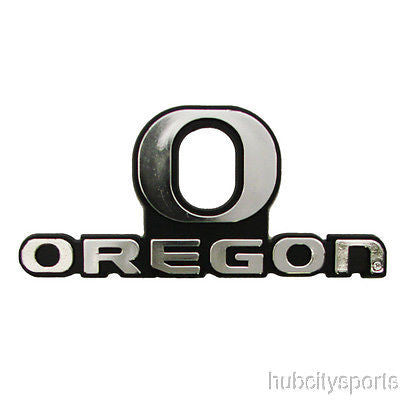 Oregon Ducks Logo 3D Chrome Auto Decal Sticker NEW!! Truck or Car