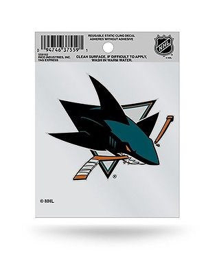 San Jose Sharks Logo Static Cling Decal Sticker NEW!! Window or Car!