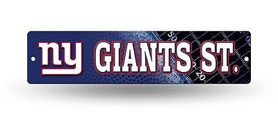 "New York Giants Street Sign NEW! 4""X16"" ""Giants St."" Man Cave NFL NEW!"