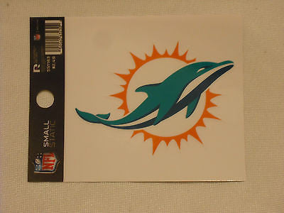 Miami Dolphins New Logo Static Cling Sticker NEW!! Window or Car! Reusable