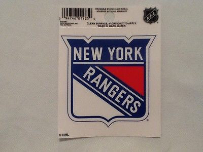 New York Rangers Static Cling Sticker Decal NEW!! Window or Car!