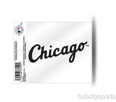 Chicago White Sox Wordmark Window Static Cling Decal Free Shipping! MLB