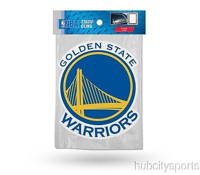 Golden State Warriors Die Cut Static Cling Decal Sticker 5 X 4 NEW Car Window