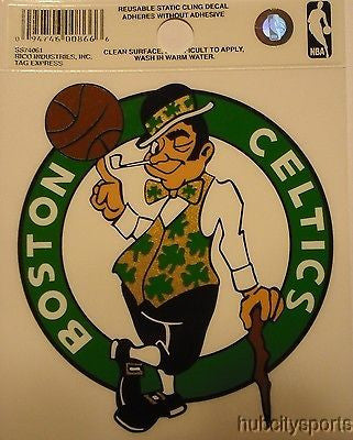 Boston Celtics Logo Static Cling Sticker NEW!! Window or Car! NBA