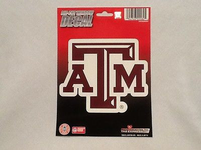 Texas A&M Aggies Die Cut Decal NEW!! 4 X 5 Window, Car or Laptop! NCAA