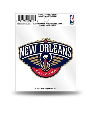 New Orleans Pelicans Static Cling Window Decal NEW Free Shipping! Car or Truck
