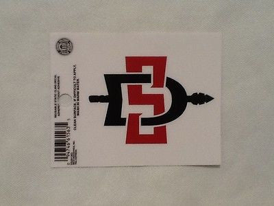 San Diego State Aztecs Static Cling Sticker NEW!! Window or Car! NCAA