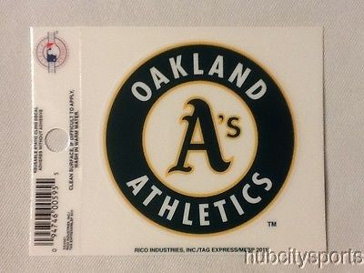Oakland Athletics Static Cling Sticker Decal NEW!! Window or Car! MLB A's