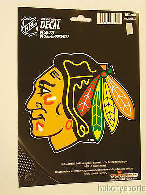 Chicago Blackhawks Die Cut Decal NEW!! 5 X 4 Window, Car or Laptop