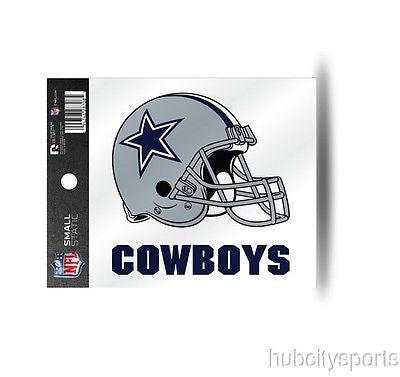 Dallas Cowboys Helmet Static Cling Sticker NEW!! Window or Car! NFL Tony Romo