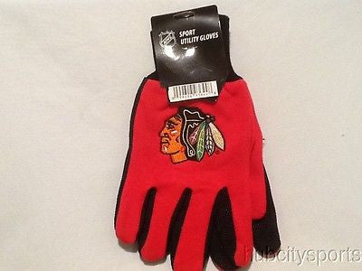 Chicago Blackhawks Sport Utility Work Gloves NEW! NHL Free Shipping