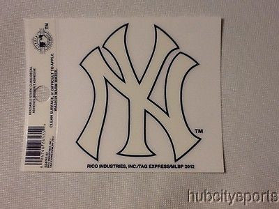 New York Yankees White Decal