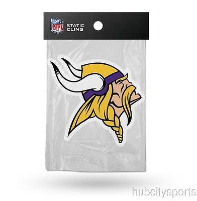 Minnesota Vikings Die Cut Static Cling Decal Reusable 5 X 5 NEW! Car Window NFL