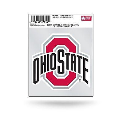 Ohio State Buckeyes Logo Static Cling Decal NEW!! Car or Truck Window