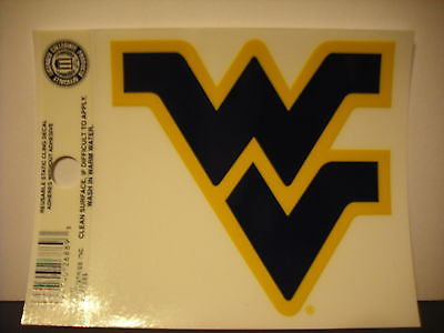 West Virginia Mountaineers Static Cling Sticker NEW!! Window or Car! NCAA