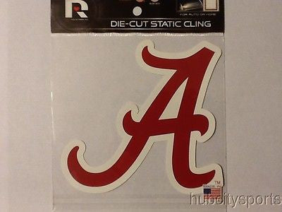 Alabama Crimson Tide Die Cut Static Cling Decal Sticker 5 X 5 NEW!! Car Window