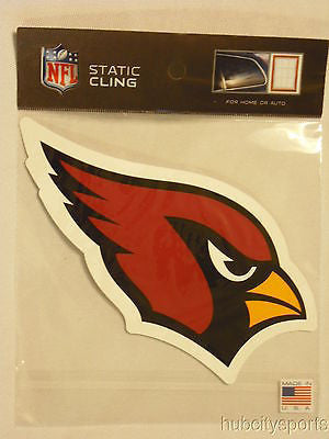 Arizona Cardinals Die Cut Static Cling Decal Reusable 5 X 5 NEW! Car Window