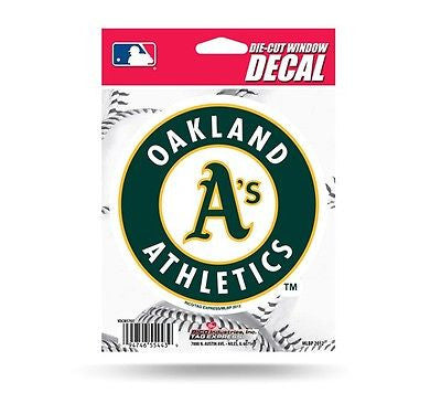 "Oakland Athletics 5"" x 5"" Die-Cut Decal NEW! MLB Car or Laptop"