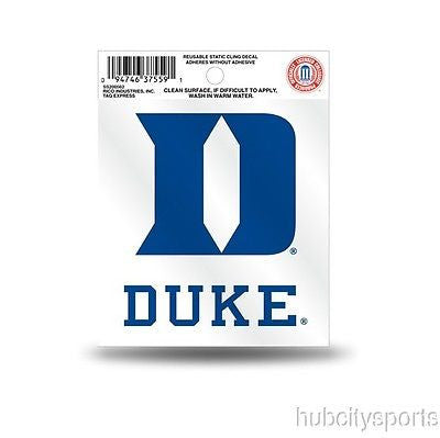 Duke Blue Devils Logo Static Cling Sticker NEW!! Window or Car! NCAA