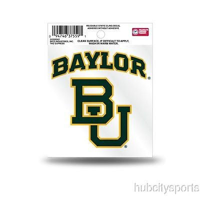 Baylor Bears Logo Static Cling Sticker NEW!! Window or Car! NCAA