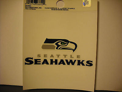 Seattle Seahawks Logo Static Cling Sticker NEW!! Window or Car! NEW LOGO!